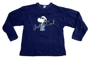 Peanuts Snoopy Vintage Long Sleeve V Neck T Shirt Size Medium Tee
