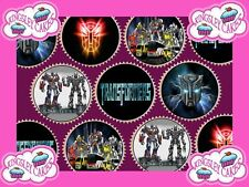 30 x TRANSFORMERS PREMIUM QUALITY CUPCAKE TOPPERS EDIBLE RICE WAFER PAPER 179
