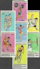 Timbres Sports JO Mongolie 1572/8 ** lot 9061