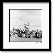 More details for iconic arnold palmer framed black and white photograph. (1965)
