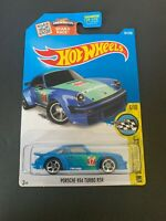 Hot Wheels 2016 HW Speed Graphics #181 Porsche 934 Turbo RSR Blue FALKEN TIRE