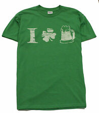 I Love Heart Clover Beer St Patty's Patrick's Day Irish Party Kelly Grn Tee 2XXL