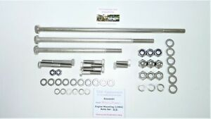 Kawasaki Z1/Z900/Z1000 - Engine Mounting Bolts Set - Stainless Steel - REVISED