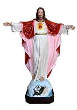 STATUA SACRO CUORE DI GESU' JESUS SACRED HEART Resina cm.85. 34 inch Occhi di cr