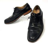 Sebago Salem Black Leather Oxford Shoes Mens 11D     (sh-149)