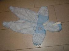 Mothercare Blu Imbottito All in One Tuta Con Cappuccio Taglia 3-6 LAV