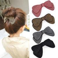 Chic Women Girls Hairpin Hair Barrettes Hair Bow Clips Hair accessories New SP