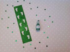 Santa's Elf Footprints Stencil And Green Elf Dust, Christmas Eve