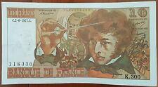 Billet 10 francs Hector BERLIOZ 2 - 6 - 1977 FRANCE K.300
