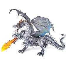 PAPO FANTASY WORLD deux tête dragon silver action figure