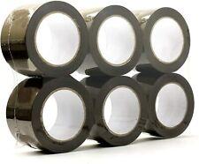 6 Rolls Premium Browntan Carton Box Sealing Packing Tape 20 Mil 3x110 Yard