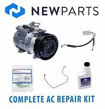 Jeep Grand Cherokee 93-98 L6 4L Complete A/C Repair Kit New Compressor w/ Clutch