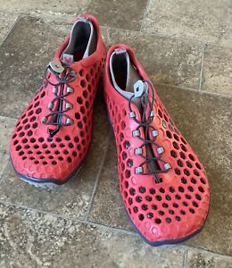 Vivobarefoot Ultra Red /Gray running shoe with liners sz 47 US 13