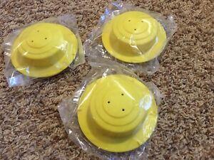 New*Set*Evenflo Exersaucer/Megasaucer Replacement Part*Farm/Barnyard Yellow Caps