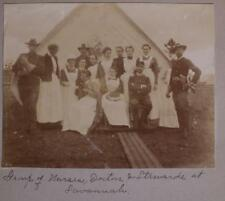 Spanish American War Nurse Photo Album Camp Cuba Libre Nursing Camp Onward