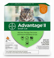 Bayer K9 Advantage II for Small Cats 5 - 9 lbs - 4 Month Supply