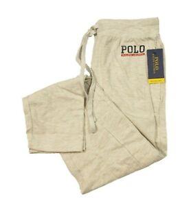 Polo Ralph Lauren Men's American Heather Ivory Slim Fit Mesh Sleep Jogger Pants