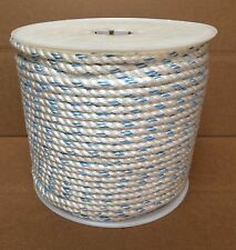 """1/2"""" X 600' Polydac Poly Dacron Combo Rope MTC Dock Line & Anchor Climbing Rope"""