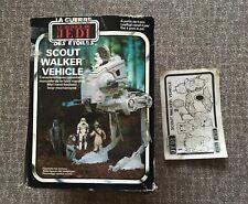 Star Wars Vintage Scout Walker AT-ST  Original Karton +  Anleitung 1983  Kenner