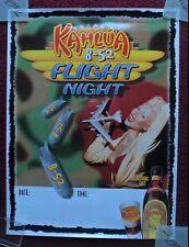 Sexy Girl Beer Poster KAHLUA LIQUEUR ~ B-52 BOMBER AIRCRAFT Flight Night