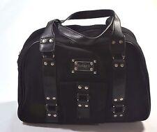 Hurley ROCK CHIC Black Metal Accents Handbag Travel Overnight Duffle Satchel