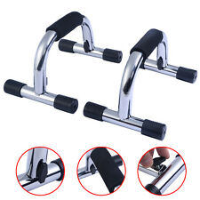 New 1 Set Chrome Push up Stands Handles Bars Home Gym Fitness Exercise Equipment