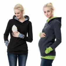 Warm Nursing Maternity For Pregnant Women Breastfeeding Hooded Lactation Sweater