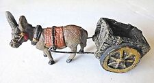 Vintage Miniature Donkey pulling Cart Railroad Village Christmas Village