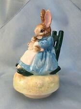 Beatrix Potter Schmid ©1981 Music Mrs Rabbit Babies Rocker Brahms Lullaby Rotate