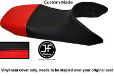 BLACK AND RED VINYL CUSTOM FITS HONDA TRANSALP XL 650 SEAT COVER ONLY