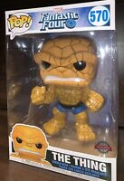 "Funko Pop! Marvel: Fantastic Four - The Thing 10"" Exclusive Special Edition #570"