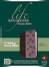 NLT Life Application Study Bible (Dark Brown / Pink Floral Design Leather-like)