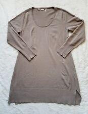 Soft Surroundings Scoopneck Tunic Sweater Dress Taupe sz PM