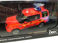 IXO models 1/43 POMPIERS LAND ROVER DISCOVERY 4 2010 Aéroport DUBLIN REF MOC136P