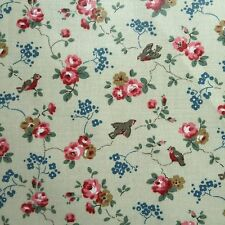 "Cath Kidston PVC Coated Cotton Oilcloth Square 17""x17"" Birds Floral OF005"
