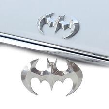 3D Silver Batman Logo Badge Tail Car Motorcycle Sticker Plating Metal Emblem