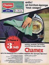 PUBLICITE ADVERTISING 015 1964 CHAMEX torchon éponge