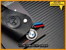 BMW Genuine Leather Key Holder Key Case Logo Emblem