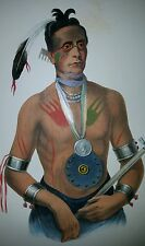 Plate No 88 Hoo-WAN-Ne-KA, 1872 Octavo History of Indian Tribes of N America