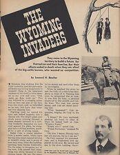 Wyoming Invaders, Regulators, Homesteaders & Cattle Barons+Boucher,Averill
