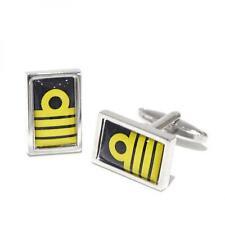 Crew Birthday Present Gift Idea Nautical Captain Rank Epaulets Stripes Cufflinks
