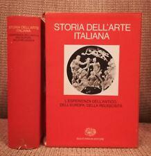 Storia dell'arte italiana, 3, L'esperienza dell'antico..., Einaudi, 1979