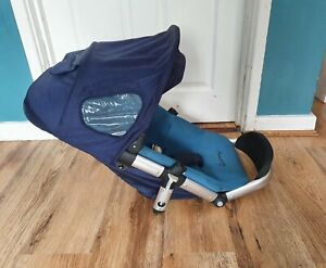 Quinny buzz 3/ 4 Seat Unit in blue including hood + harness straps with pads