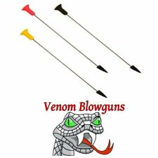 25 .50 Caliber Pro-Length Broadhead Blowgun Darts w/ Quiver by Venom Blowguns