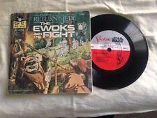 "Star Wars ROTJ Ewoks Join The Fight 7"" Sleeve 45rpm Record original vinyl single"