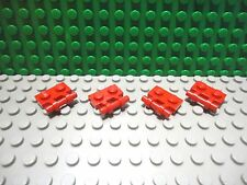 Lego 4 Red 1x2 plate with side handle NEW