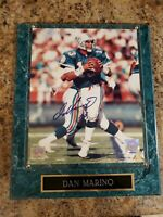 Dan Marino Signed 8x10 Plaque Authenticated By Mounted Memories COA
