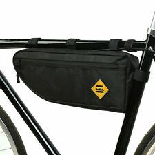 Nero Bicicletta Triangolo Borsa Telaio Bici Impermeabile Anteriore Tubo Ciclismo