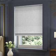Grey Roman Blind Blackout Lining 70cm width x 130cm drop Blinds2Go Brand New