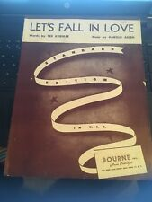 Vintage Sheet Music: Lets fall in love, 1933 Koehler ,Arlen